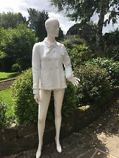 New Swiss Chriss White Cream Linen Mix Jacket 42 Uk 10