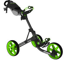 NEW CLICGEAR 3.5+ GOLF PUSHCART CHARCOAL/LIME (CGC358-CLIME) *AUTHORIZED*