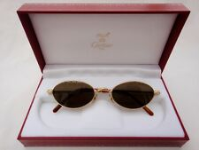 VINTAGE CARTIER OVAL MIZAR 49MM GOLD FRANCE SUNGLASSES HARD PLATED