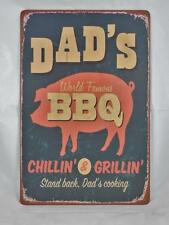 Dad's BBQ Vintage Tin Sign for Man Cave,Fathers Day,Stocking Stuffer,4th of July