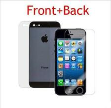 Front Back HD Clear Transparent Screen Protector for Apple iPhone 5 5S 5G