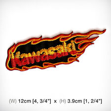 new KAWASAKI EMBROIDERED PATCH IRON ON OR SEW Racing sports Fire BIG BIKE Motor