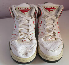 Vtg NIKE FLIGHT pour homme blanc/rouge baskets taille 8.5