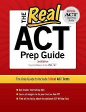 The Real ACT, 3rd Edition (Real ACT Prep Guide) ACT, Inc. Books-Good Condition
