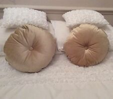 Sold out Boudoir Two soft gold velvet velour filled cushions from dunelm button