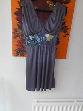 New with Tags Designer Ted Baker Dress Grey Size 3 = UK 12