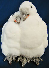 SNOWY WHITE PENGUIN COUPLE HANDMADE DECORATION CHRISTMAS HOLIDAY TREE WEDDING