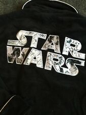 OFFICIAL STAR WARS Logo Black Adult Fleece Dressing Gown  Robe BRAND NEW !!!