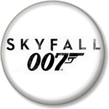 "James Bond Skyfall Logo White 25mm 1"" Pin Button Badge Daniel Craig Movie 007"