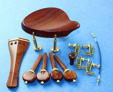1set New Rosewood 4/4 violin accessories bridge chinrest endpin tuner tail gut