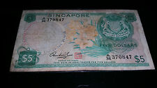 Singapore Orchid $5 note
