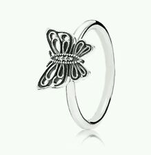 NEW Genuine PANDORA Sterling Silver CZ Butterfly Ring Size 50 190901cz £40.00