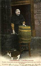 CALVADOS CARTE POSTALE FERMIERE AVEC BARATTE A BEURRE 1911