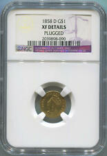 1858 D $1 One Dollar Gold. NGC XF Details
