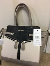 Women's Nine West Purse Luxe Layering MSRP$69NWT White Black&Gray Christmas Gift