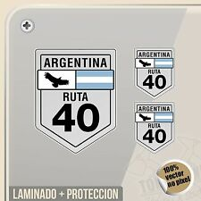 PEGATINA RUTA 40 ARGENTINA LOGO VINILO VINYL STICKER DECAL ADESIVI