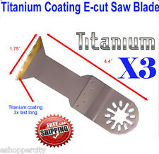Titanium E-cut Oscillating MultiTool Saw Blade Dremel Multi-max Ridgid Jobmax