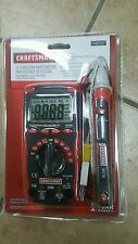 Craftsman 11-function Auto Range Digital Multi-meter and AC Voltage Detector New