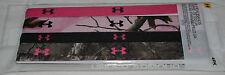 4 Pk Under Armour Women's 2 Camo Print/2 Multi-Color Braided Headbands Sz OS **