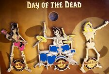 HARD ROCK CAFE ORLANDO 2015 DAY OF THE DEAD SKELETON BAND 3 PIN SET # 85309