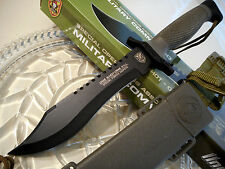 "United SOA Military Commando Combat Bowie Knife Saw 4mm Full Tang Sheath 12"" OA"