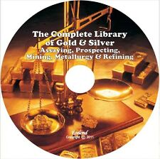 GOLD Assaying Prospecting Panning Mining Melting Refining & Metallurgy on DVD