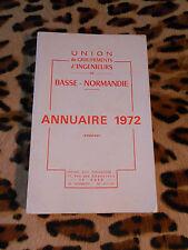 ANNUAIRE 1972 - Union des groupements d'ingénieurs - Basse-Normandie