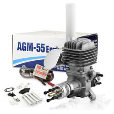 AGM55 55cc Gas Gasoline Engine w/CDI Muffler Vs. DLE55 Gas Engine