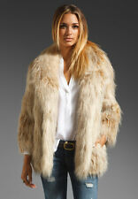 $548 NWT JUICY COUTURE WILDE FAUX FUR COAT JACKET BLONDE SZ XS/S