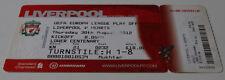 Ticket for collectors EL Liverpool FC - Hearts FC 2012 England Scotland