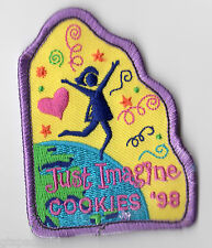 Girl Scout Cookie Sale Participation Patch~1998 Just Imagine Cookies ABC Bakers