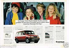 Publicité Advertising 1994 (2 pages) Chrysler Voyager Turbo Diesel