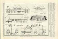 1913 The Ndc Design For Parish Hall And To Cottages, Designed By Revil