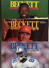 Beckett Football Card Monthly 1993 3 Issues! 36 40 41  Irvin Emmit Montana