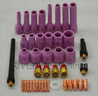 TIG Gas Lens KIT,Back Cap Collet Body Fit TIG Welding Torch WP SR-9 20 25,42PK