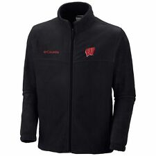 ($60) COLUMBIA Wisconsin Badgers Jersey Fleece Jacket Adult MENS/MEN'S m-medium