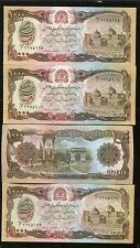 Rare Old AFGHANISTAN Desert Storm Note US American War Army Banknote 4 Pcs Lot