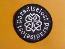 PARADISE LOST,SEW ON WHITE CIRCULAR EMBROIDERED PATCH