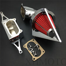 Cone Spike Air Cleaner for 2002-2010 Yamaha Roadstar Midnight Warrior Chrome