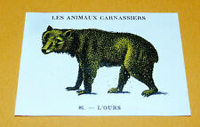 CHROMO 1932 CASINO N°81 LES ANIMAUX CARNASSIERS L'OURS
