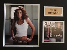 NELLY FURTADO - SINGER/SONGWRITER - XMAS OFFER - SUPERB SIGNED DISPLAY - COA