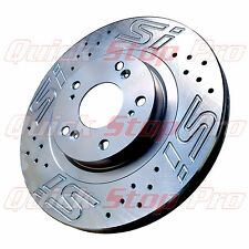HON015C Civic SI Coupe Sedan 06-15 Front Pair Performance Brake Rotors SI Logo