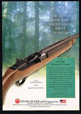 2002 Sturm Ruger Deerfield Carbine 99/44 Deer Rifle Print Ad