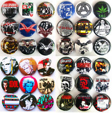 OI POLLOI BILLY IDOL THE ADVERTS COCK SPARRER EXPLOITED 36pcs Punk Button Badges