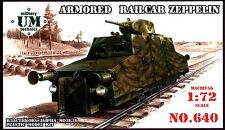 UMmt 1/72 640 WWII Soviet Red Army Armored Railcar ZEPPELIN