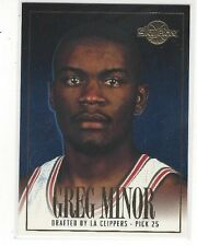 1994-95 SKYBOX PREMIUM BASKETBALL DRAFT PICKS GREG MINOR #DP25 - LA CLIPPERS