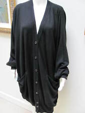 Yevs Saint Laurent Black Front Buttons Long Cardigan/Sweater Size:M will fit XXL