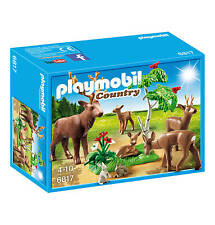 PLAYMOBIL 6817 WILD LIFE FOREST  DEER ANIMALS FAMILY FOR ZOO PLAY  NEW / SEALED