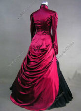 Victorian Edwardian Bustle Gown Dress Riding Habit Steampunk Clothing V 139 L