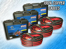 HEAVY DUTY 1 GAUGE 25 FT BOOSTER/JUMPER BATTERY CABLES-100% COPPER-PACKAGE OF  3